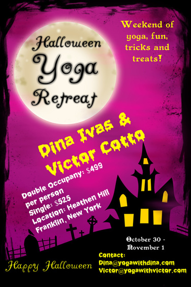 Yoga Retreat Halloween 2015 Dina Ivas Victor Cotto Vicyasa Meditation Heathen Hill Fun Retreat