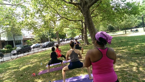Yoga Cooper Park Brooklyn Down to Earth Markets Vicyasa Victor Cotto Donation