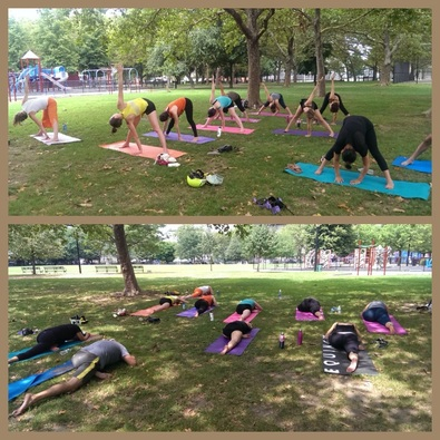 vicyasa yogawithvictor victor cotto cooper park brooklyn ny vinyasa classes outdoors makara studio down to earth markets