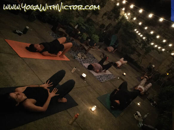 Victor Cotto COVID-19 Yoga Outdoors Candlelight FLOW NYC Quarantine Vicyasa Vinyasa New York City Long Island Outdoors Outside Event Time Out NY Quarantine Zoom.us Streaming