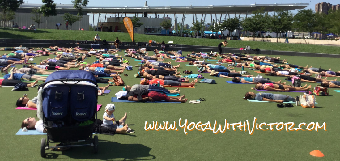 Vicyasa Free Yoga Outdoors In the Park LuluLemon The Yoga Room Long Island City LIC Gantry Park NYC