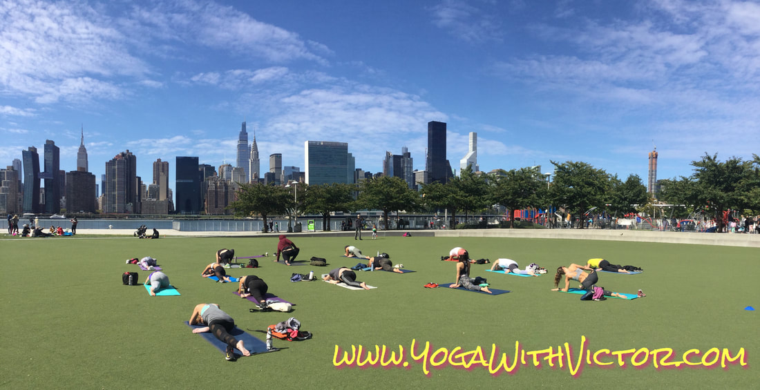 Victor Cotto Vicyasa Yoga in the Park Free Summer Outdoors The Yoga Room Lululemon LIC Long Island City New York Vinyasa Events