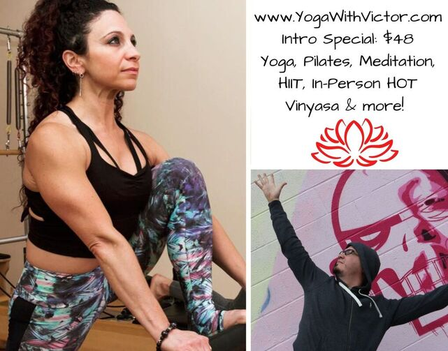 Tanya Mgrdechian Pilates Yoga with Victor Cotto Vicyasa™ Online Platform Zoom.us Mindbody NYC Health Power Flow